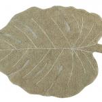 Ковер лист монстеры оливковый Детский стираемый ковер. Состав 100% хлопок. Производитель ТМ «Lorena Canals», Испания