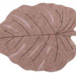 Ковер лист монстеры винтажный нюдовый Детский стираемый ковер. Состав 100% хлопок. Производитель ТМ «Lorena Canals», Испания