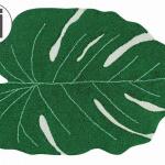 Ковер лист монстеры зеленый Детский стираемый ковер. Состав 100% хлопок. Производитель ТМ «Lorena Canals», Испания