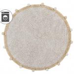 Ковер-с-помпонами-медовый Детский стираемый ковер. Состав 100% хлопок. Производитель ТМ «Lorena Canals», Испания