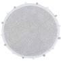 Ковер-с-помпонами-серый Детский стираемый ковер. Состав 100% хлопок. Производитель ТМ «Lorena Canals», Испания