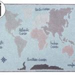 Винтажная карта Детский стираемый ковер. Состав 100% хлопок. Производитель ТМ «Lorena Canals» , Испания