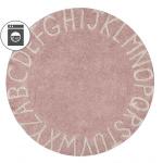 круглый Алфавит Round ABC розовый Детский стираемый ковер. Состав 100% хлопок. Производитель ТМ «Lorena Canals», Испания