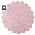 Печенька Little Biscuit розовый Детский стираемый ковер. Состав 100% хлопок. Производитель ТМ «Lorena Canals», Испания