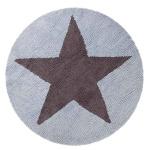 Пентаграмма голубая двусторонний Детский стираемый ковер. Состав 100% хлопок. Производитель ТМ «Lorena Canals», Испания