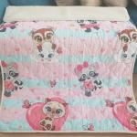 «Малыши-девочки ЛоконХлопок Зоопарк» 100×140см. Детское теплое шерстяное тканое одеяло. 100% открытая шерсть мериноса. Ткань 100% хлопок-перкаль. Производитель ТМ «Magicwool», Россия