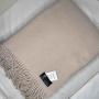Нцца Шерстяной плед с кистями 100 шерсть новозеландских ягнят. Производитель Klippan Saule, Латвия