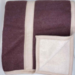 Одеяло «Бежево-Коричневый». Теплое тканое одеяло. 100 открытая новозеландская овечья шерсть. Производство KLIPPAN SAULE, Латвия