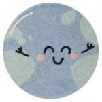 Планета Земля. Детский стираемый ковер. Состав 100% хлопок. Производитель Lorena Canals, Испания