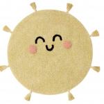 Солнце. Детский стираемый ковер. Состав 100% хлопок. Производитель Lorena Canals, Испания