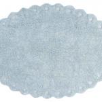 Сосновая шишка жемчужно-голубой. Детский стираемый ковер. Состав 100% хлопок. Производитель Lorena Canals, Испания