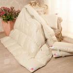 «Камелия» бежевое. Теплое пуховое кассетное одеяло. 90% серый гусиный пух (экстра), 10% перо. Лёгкие сны, Россия