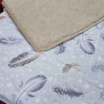 Одеяло Меринос Облако Бежевое-Хлопок Перышки. Шерстяное тканое одеяло. 100% открытая шерсть мериноса. ТМ Magicwool (Монарх), Россия