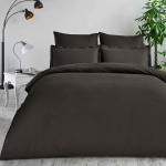 CLASSIC Коричневый. Постельное белье Сатин, Хлопок. Комплект постельного белья сатин -100 хлопок. Постельное белье Karna (Карна), Турция