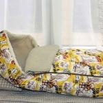 Детский шерстяной конверт в коляску «Мишки желтые Меринос Облако Бежевое». Состав 100% шерсть мериноса. ТМ «MagiсWool», Россия