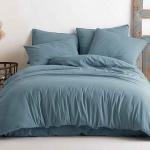Постельное белье KARNA хлопок STONEWASH (Синий Небо). Ткань вареный хлопок. Состав 100% хлопок. Производство ТМ «KARNA» («Карна»), Турция