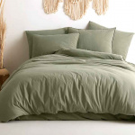 Постельное белье KARNA хлопок STONEWASH (Зеленый). Ткань вареный хлопок. Состав 100% хлопок. Производство ТМ «KARNA» («Карна»), Турция