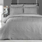Постельное белье бамбук KARNA VIERA (Серый). Комплект постельного белья бамбук-хлопок. Состав 50% бамбук, 50% хлопок. Ткань Бамбук-Жаккард. Постельное белье Karna (Карна), Турция