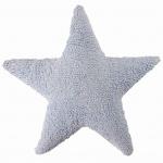 Подушка детская интерьерная Звезда Star голубая. 100 хлопок. Lorena Canals, Испания