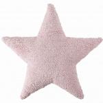 Подушка детская интерьерная Звезда Star розовая. 100 хлопок. Lorena Canals, Испания
