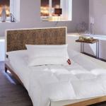 «Sapphir» подушка пуховая жесткая. Наполнитель 80% белый пух, 20% перо Венгерского гуся. ТМ «Brinkhaus», Германия