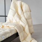 Ретро. Всесезонное пуховое кассетное одеяло. Белый гусиный пух, перо. Производство «Серафимовская Пушинка», Россия