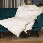 Trois Couronnes Euphoria. Всесезонное пуховое кассетное одеяло. 100 белый гусиный пух сибирской породы. Trois Couronnes, Швейцария