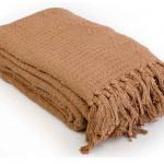 «Лотос коричневое». Покрывало 100% хлопок. ТМ «Коронатекс», Индия