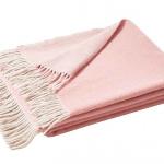 Шерстяной плед с кистями «HIMALAYA ROSE». Плед 100% кашемир. Производитель ТМ «Blanc des Vosge», Франция