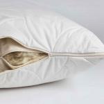 Подушка стеганая двусоставная «ODEJA NATUR Kapok Pillow» регулируемая. Наполнитель органический хлопок (COTTON), капка (Kapok). Производство ТМ «Odeja», Словения